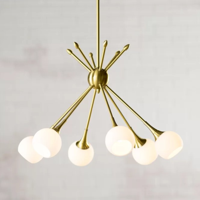 Drexler 6 Light Sputnik Chandelier