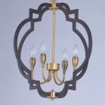 Everly Quinn Astin 4 Light Candle Style Geometric Chandelier Reviews Wayfair