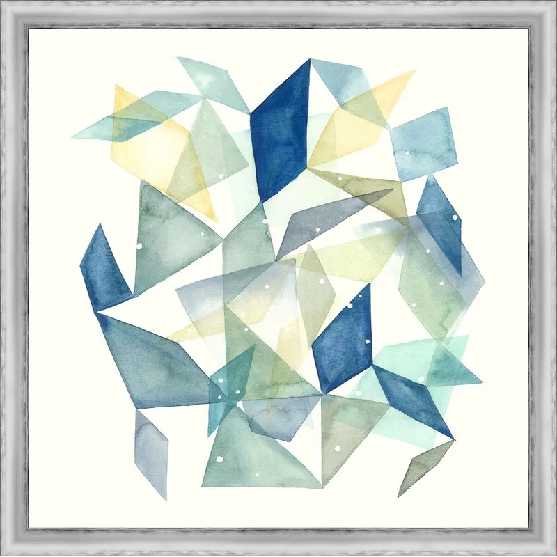 Trends Geometric Jewel Abstract II Framed Graphic Art