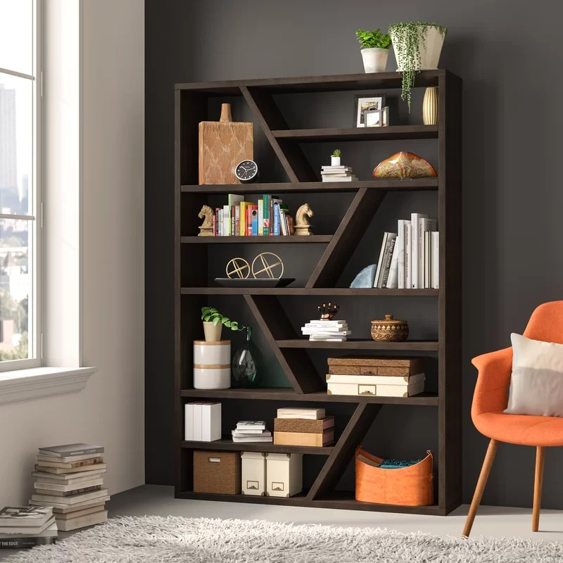 Dailey Geometric Bookcase