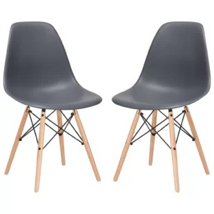 modern gray dining chairs black camping wash chair wayfair quintus set of 2