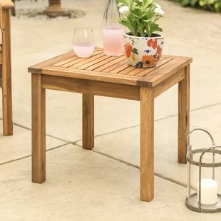 diboll solid wood side table