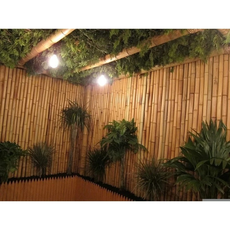 rolled bamboo privacy screen