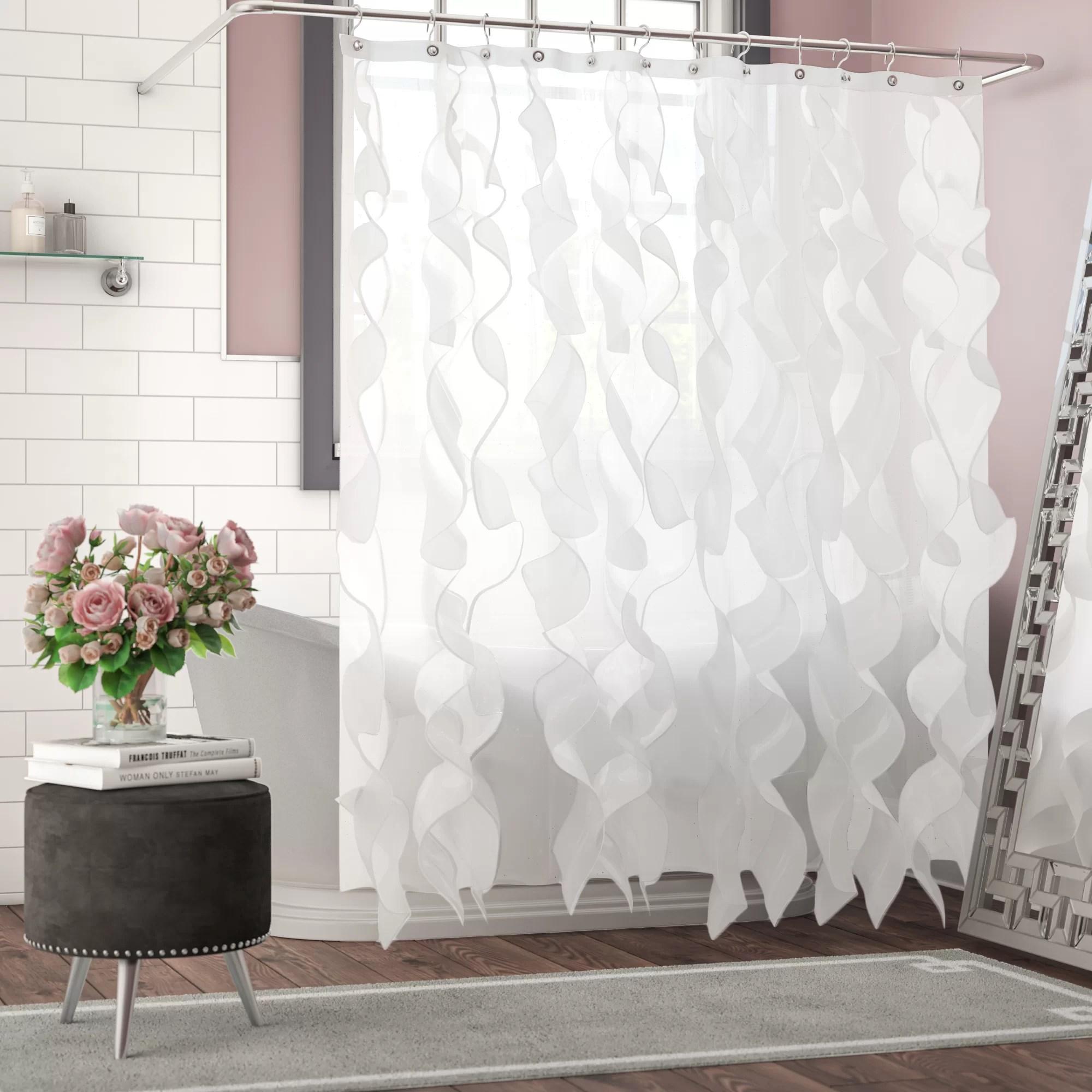 westendorf cascading waterfall single shower curtain