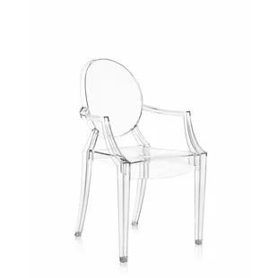 ghost chairs cheap blue parsons chair modern contemporary clear acrylic allmodern louis armchair set of 4