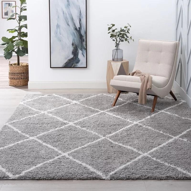 babich shag silver white rug