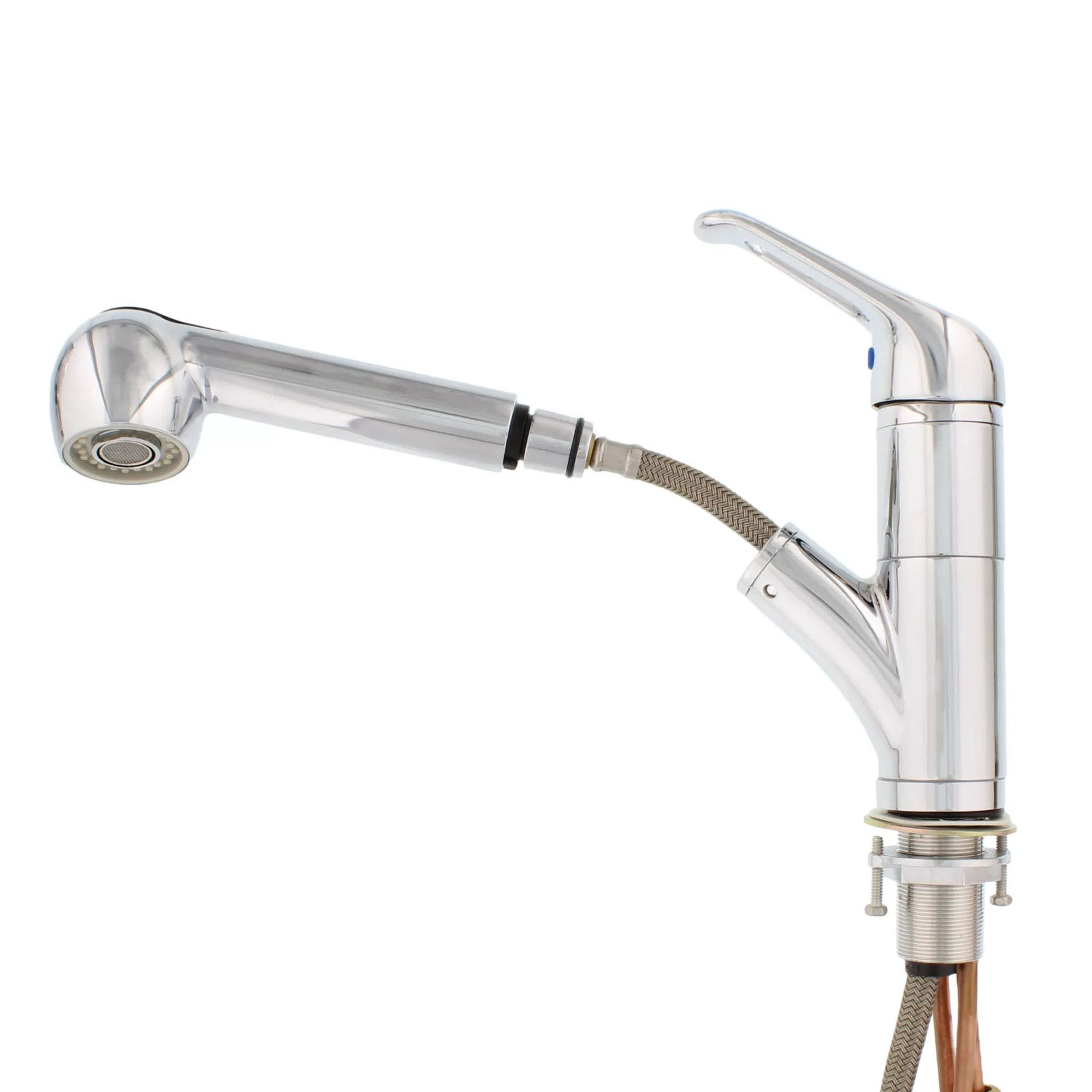 pull out single handle kitchen sink faucet