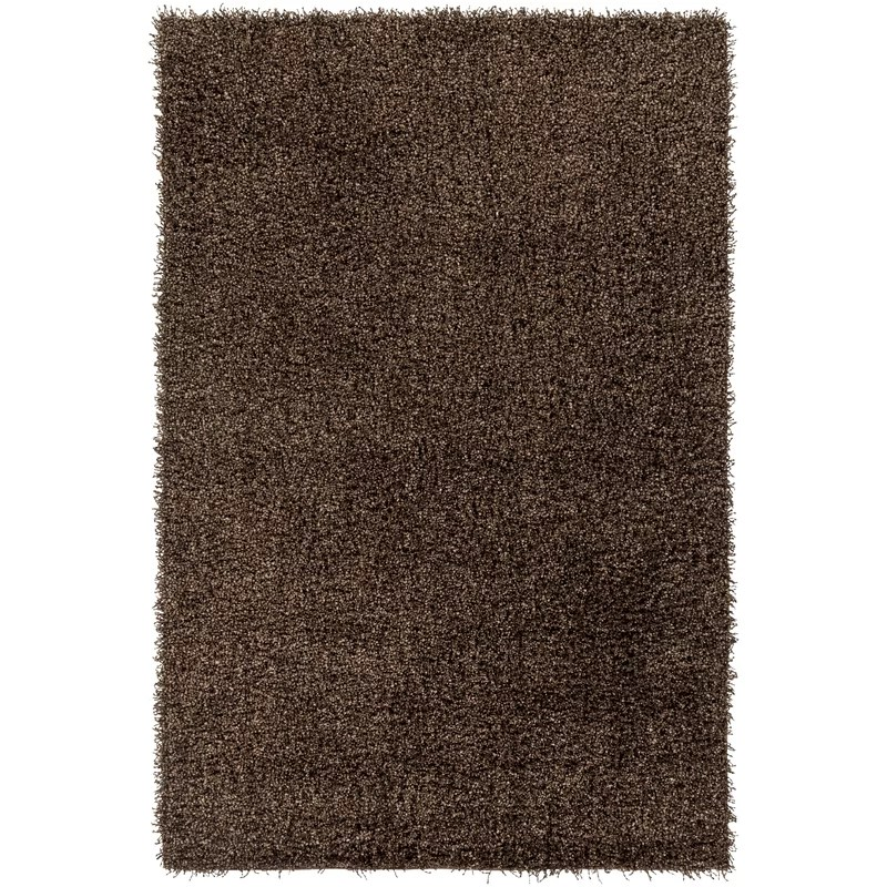 Mchaney Hand-Tufted Wool Brown Area Rug Rug Size: Rectangle 5 x 76