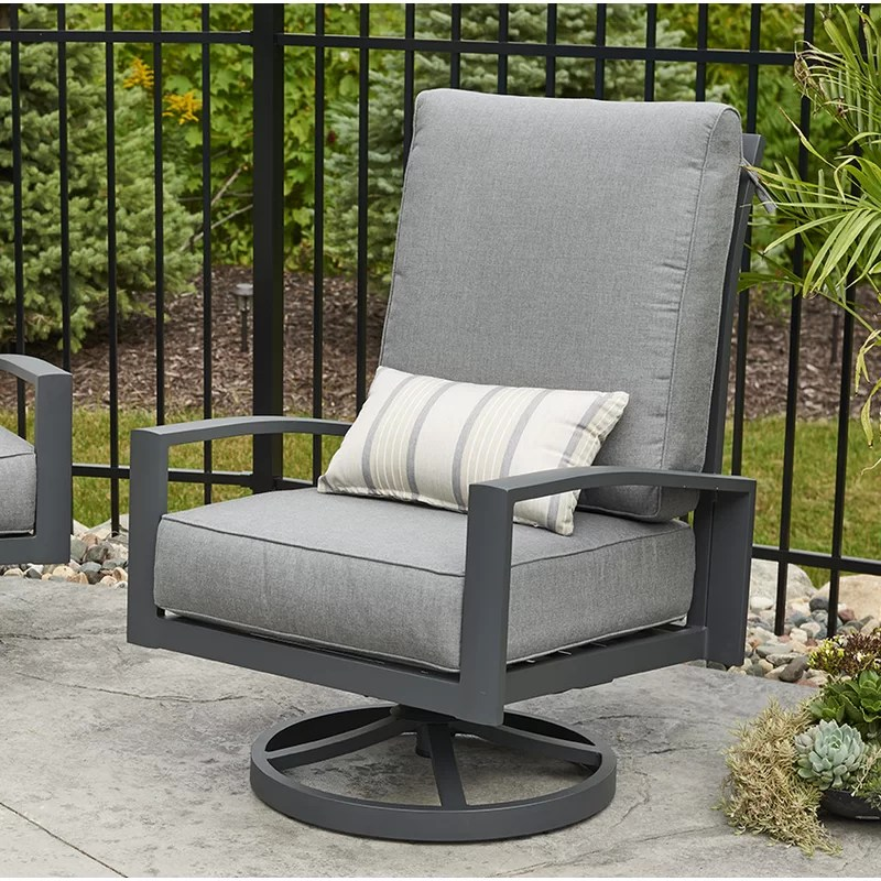 lyndale high back patio chair with cushions
