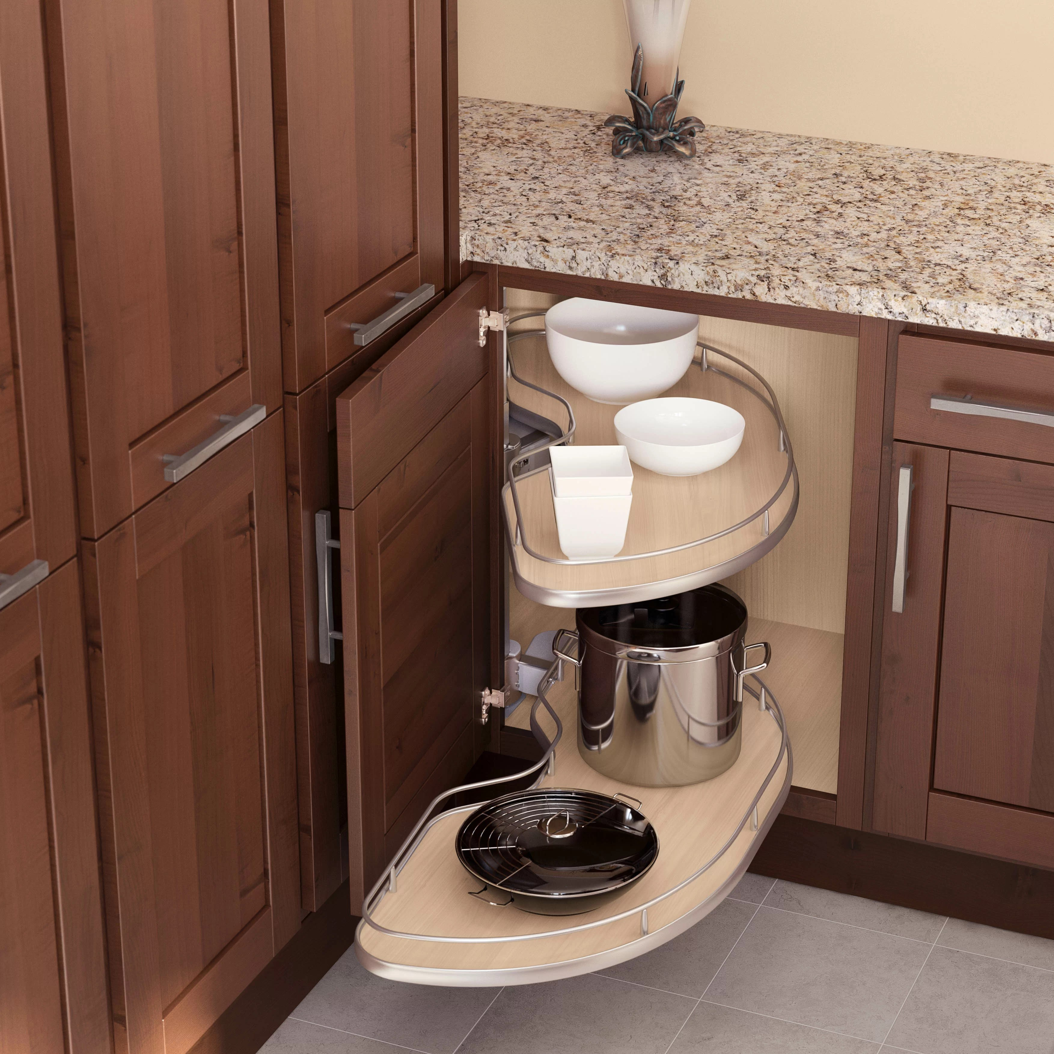 Blind Corner Cornerstone Maxx Kit 1 L For Cabinet 800mm Maple Silver In 1000mm Tray For 39 Cabinets Left Handed In Scalea Maple Silver