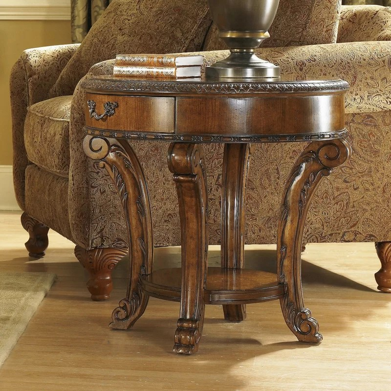 Brussels End Table With Storage