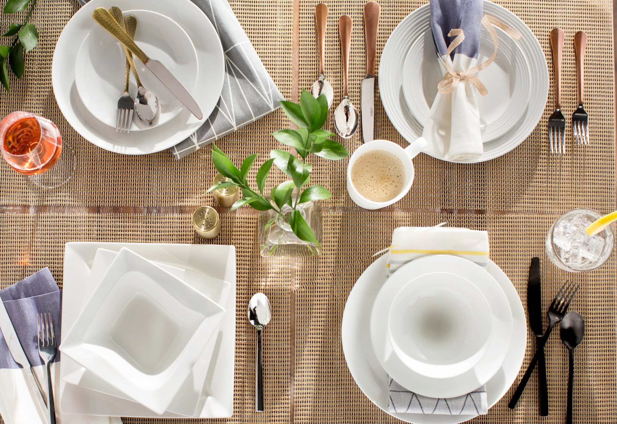 hight resolution of table setting