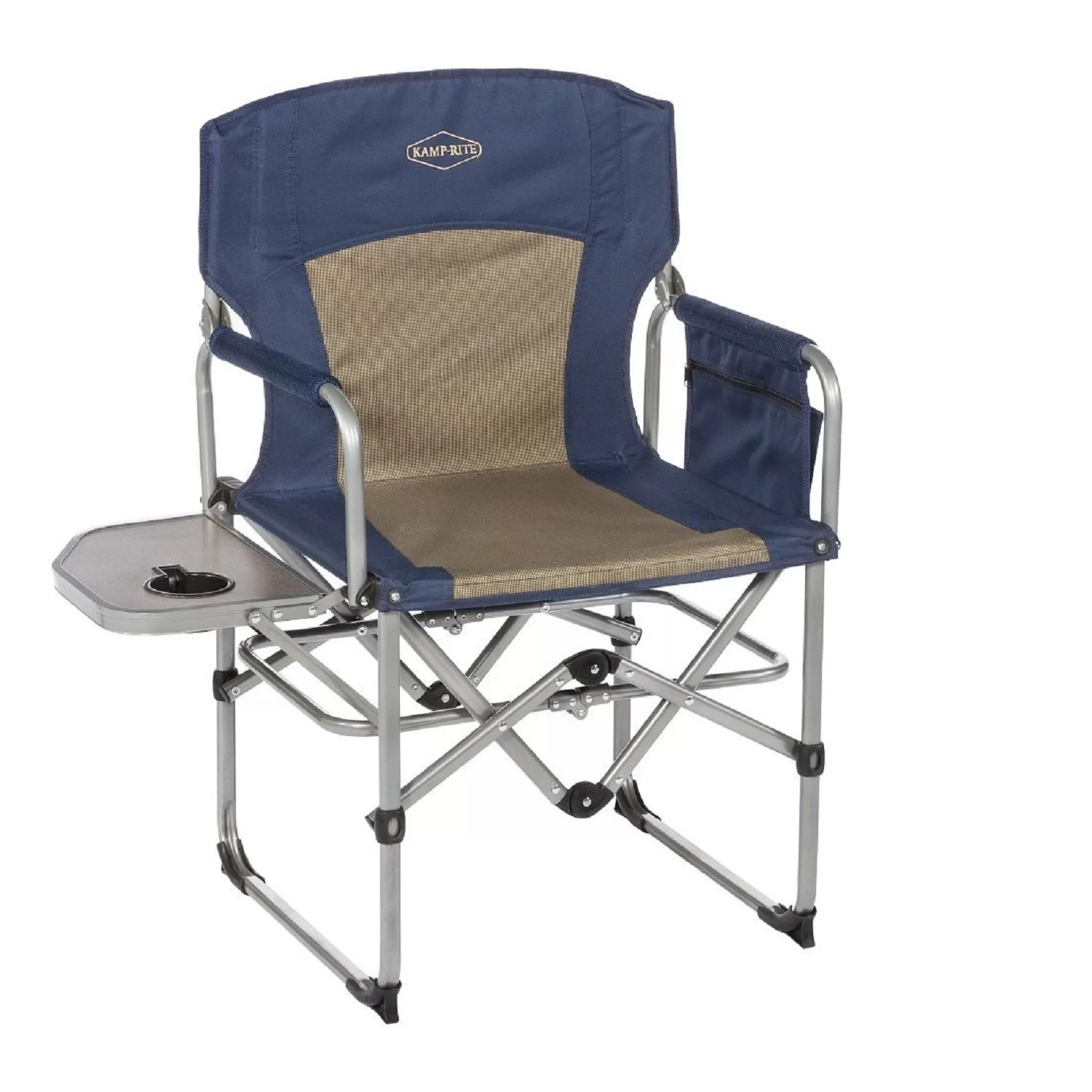 Folding Camp Chair With Side Table Ancelin Compact Folding Camping Chair