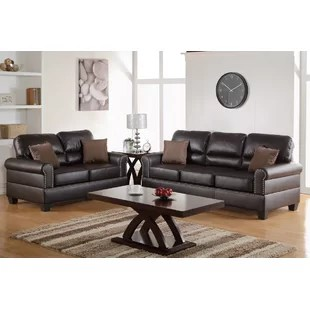 2 piece brown leather sofa usa made furniture living room sets you ll love wayfair quickview