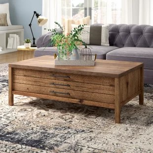 coffee table living room design rugs for in home goods farmhouse rustic tables birch lane odile