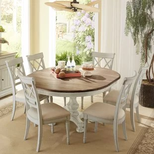 kitchen table and chairs with wheels gaming chair rocker dining sets birch lane allgood 7 piece set