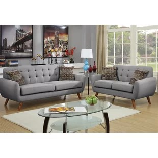 modern chairs living room pictures of rooms with dark grey sofas 2 contemporary sets you ll love wayfair ca save