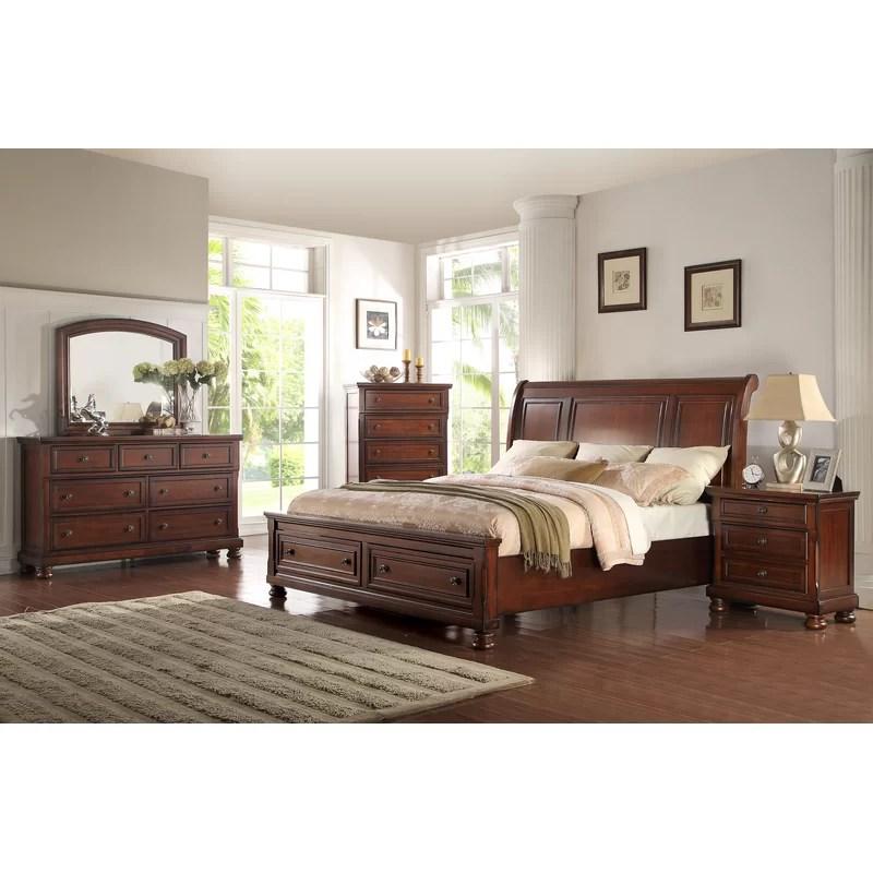 vitela queen standard solid wood 4 piece bedroom set