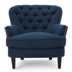 Accent Chair Blue Covers For Kitchen Table Lark Manor Parmelee Wingback And Reviews Wayfair