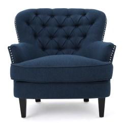 Navy Blue Leather Club Chair Rowe Keller Lark Manor Parmelee Wingback And Reviews Wayfair