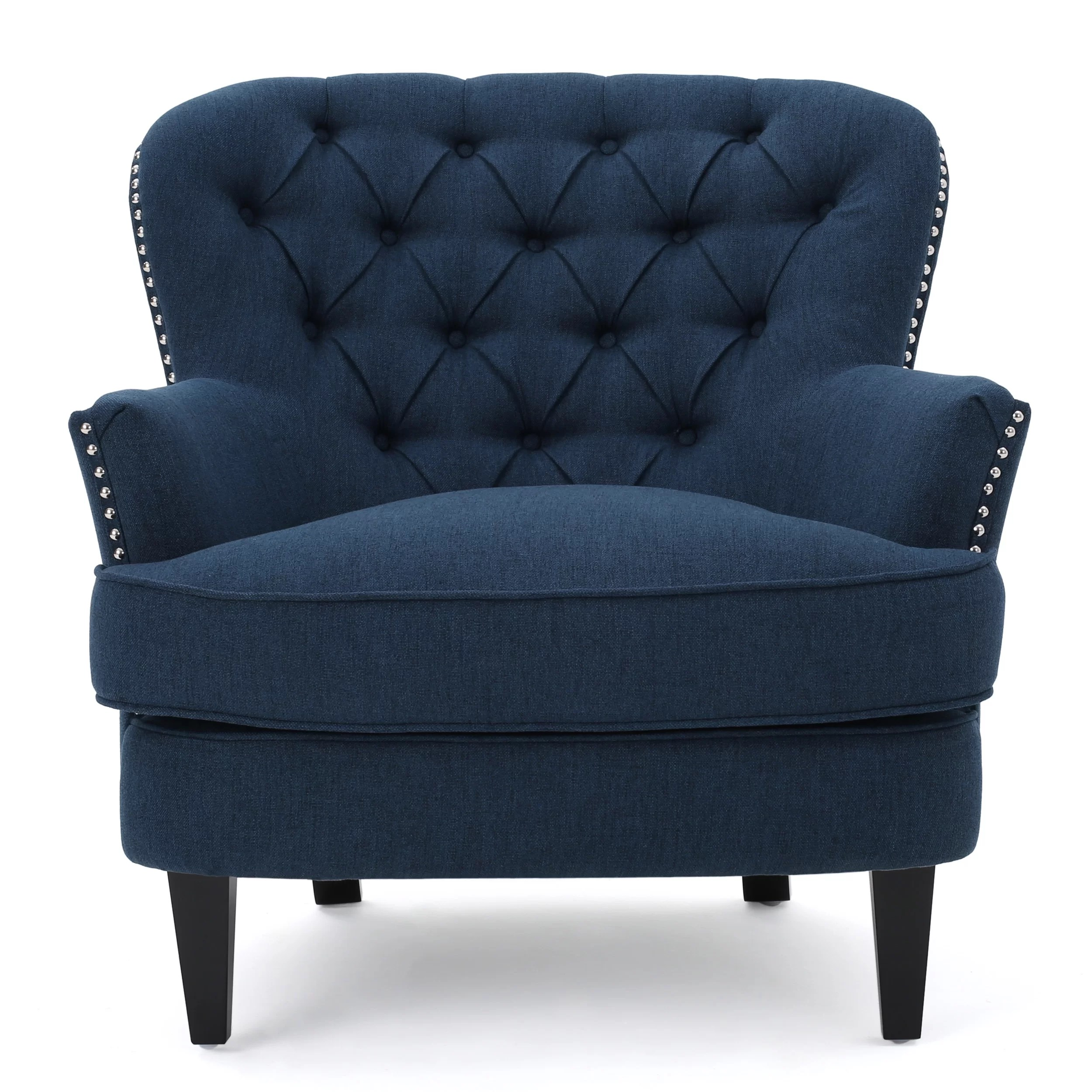Accent Chair Blue Lark Manor Parmelee Wingback Chair And Reviews Wayfair