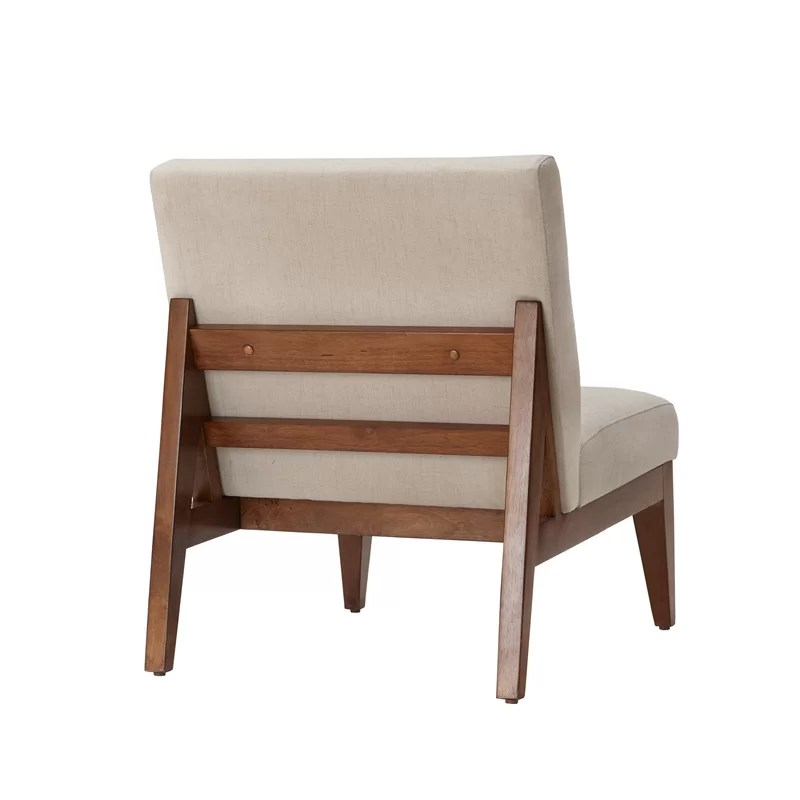 brown slipper chair swivel arm chairs emanuel reviews allmodern