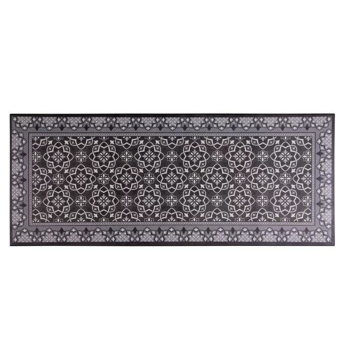 memory foam kitchen rug plates nicole miller calm step grey wayfair ca