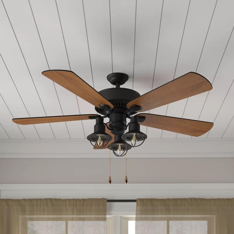 ceiling fan light kits wiring diagram for 50cc chinese atv birch lane heritage 52 ravello 5 blade led kit included