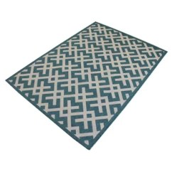 Teal Kitchen Rugs Portable Island With Seating You Ll Love Wayfair Ca Harbour Geometric Indoor Outdoor Area Rug