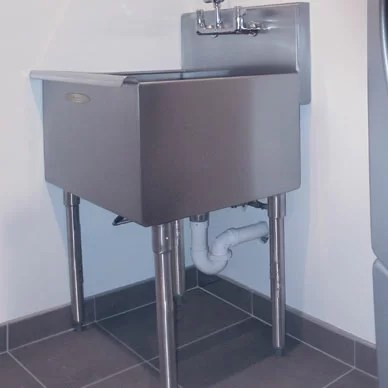 24 x 21 freestanding laundry sink