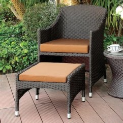 Outdoor Chair And Ottoman Swing Range With Wayfair Mckinley Patio