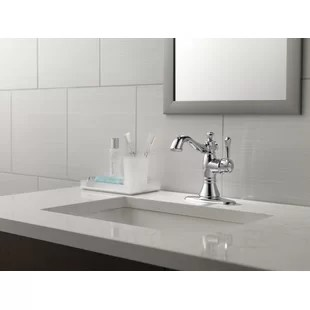 cassidy single hole bathroom faucet with drain assembly