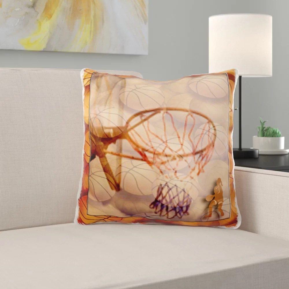 redfield girl playing basketball pillow cover