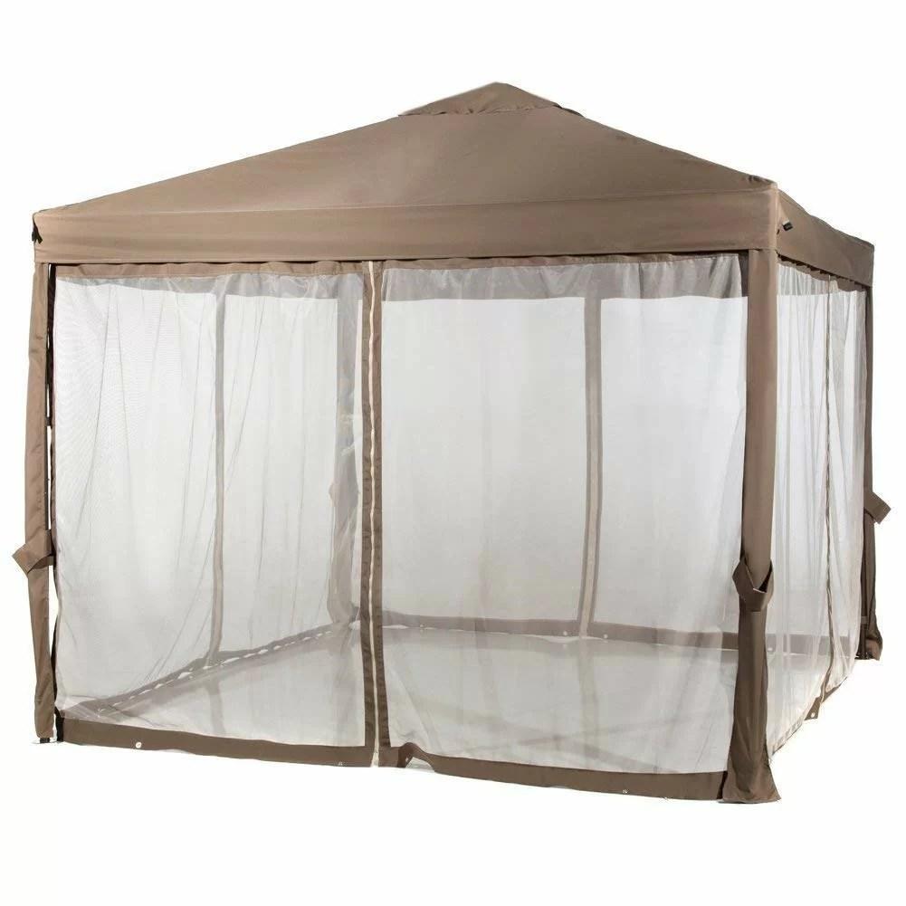 abba patio 10 ft w x 10 ft d steel pop up canopy