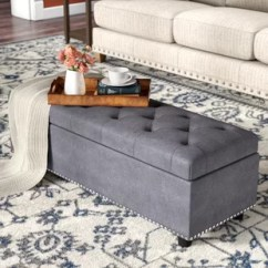 Chocolate Brown Leather Sectional Sofa With 2 Storage Ottomans Sam Levitz Recliner Joss Main Quickview