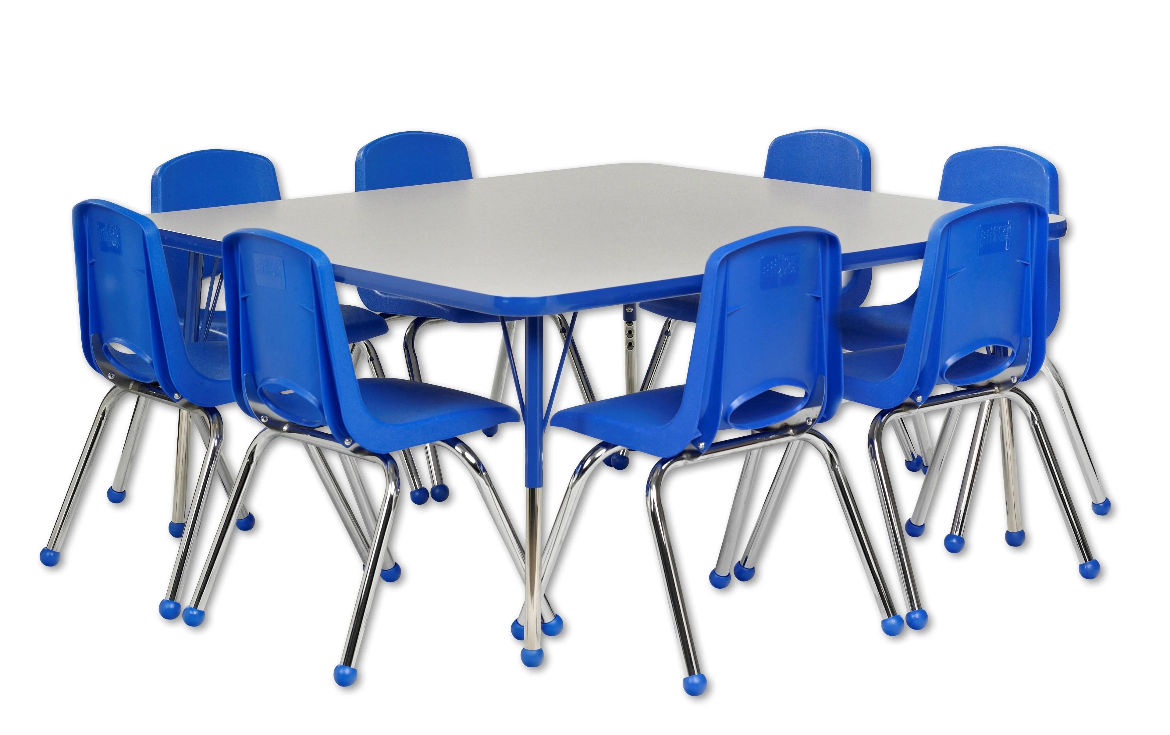 activity table and chair set bedroom boudoir ecr4kids 9 piece square reviews wayfair