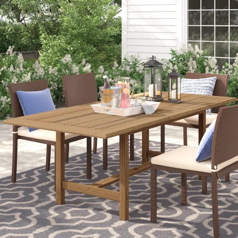 decastro extendable teak den dining table
