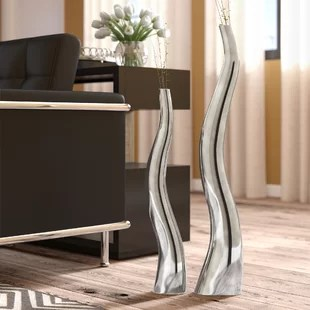living room floor vases how to decorate a small you ll love wayfair wiggly tall vase set of 2