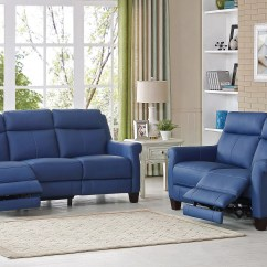 Blue Leather Living Room Sets How To Make Swag Curtains For Hydelinebyamax Dolce Reclining 2 Piece Set Wayfair Ca