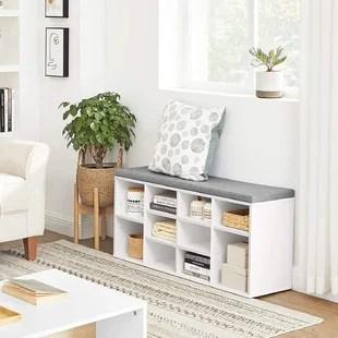 cubbie shoe storage bench