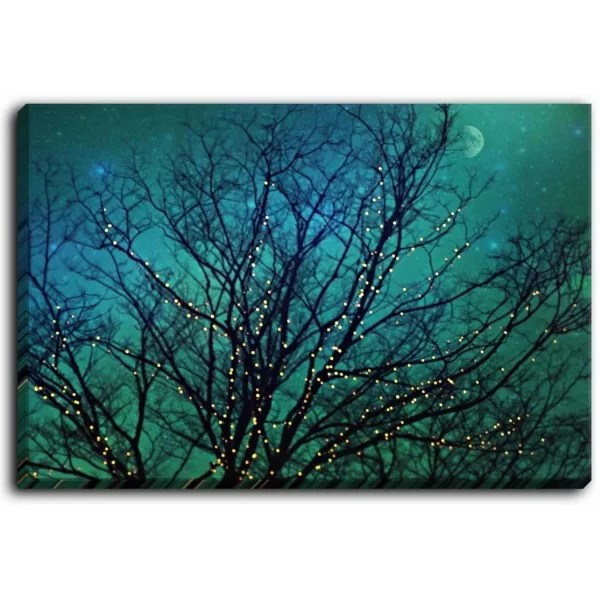 Magical Night by Sylvia Cook Painting Print on Wrapped Canvas Size: 36 H x 24 W x 1.5 D