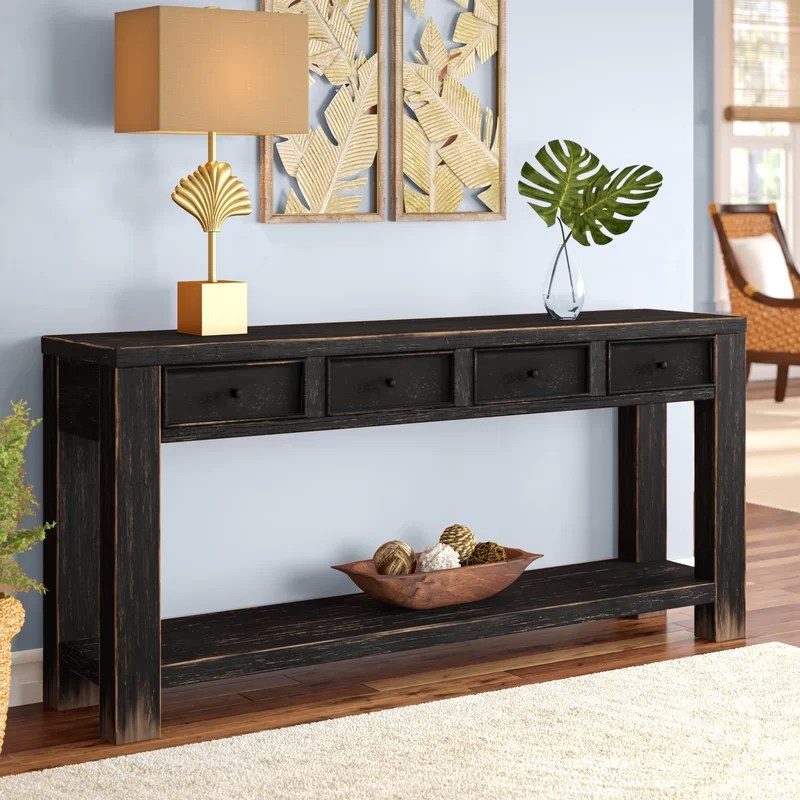 Sofa Table Console In Formal Window