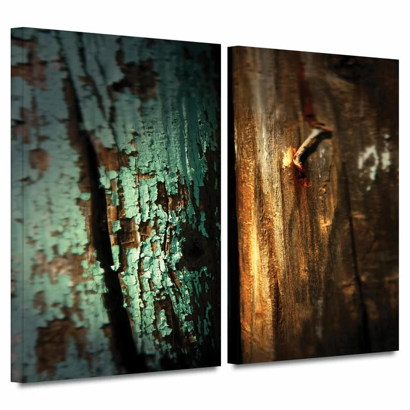 Wood and Nail by Mark Ross 2 Piece Photographic Print on Wrapped Canvas Set Size: 24 H x 36 W x 2 D