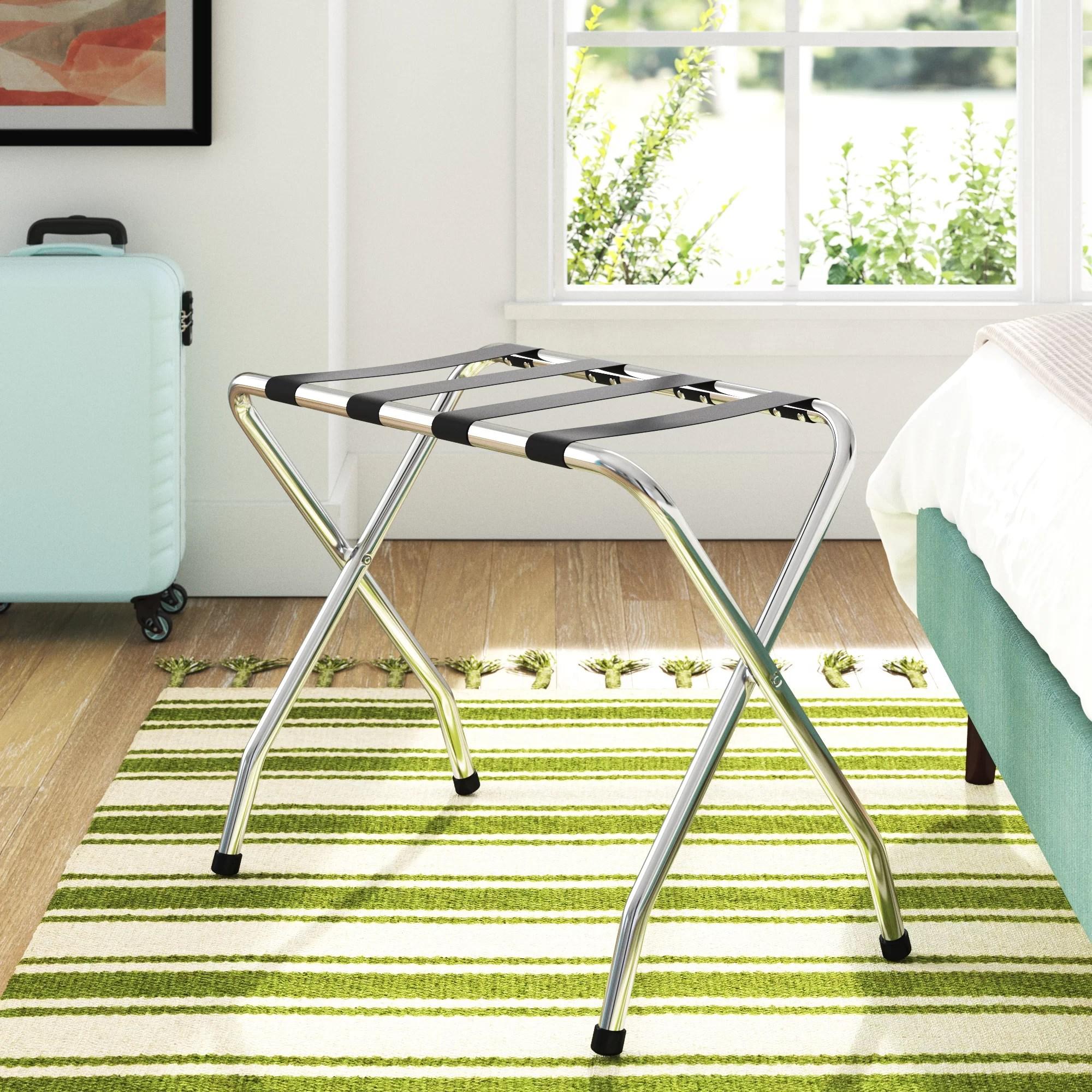 folding metal luggage rack set of 3