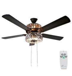 orren ellis 52 njie caged crystal 5 blade ceiling fan with remote light kit included reviews wayfair [ 1024 x 1024 Pixel ]