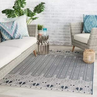 allistor dark blue cream indoor outdoor area rug