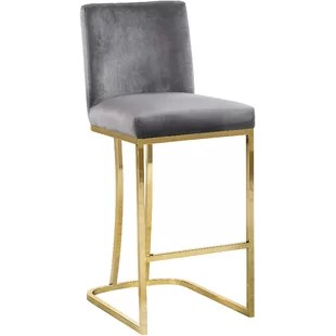 bar stool chair grey stretchy covers stools counter joss main quickview black gray