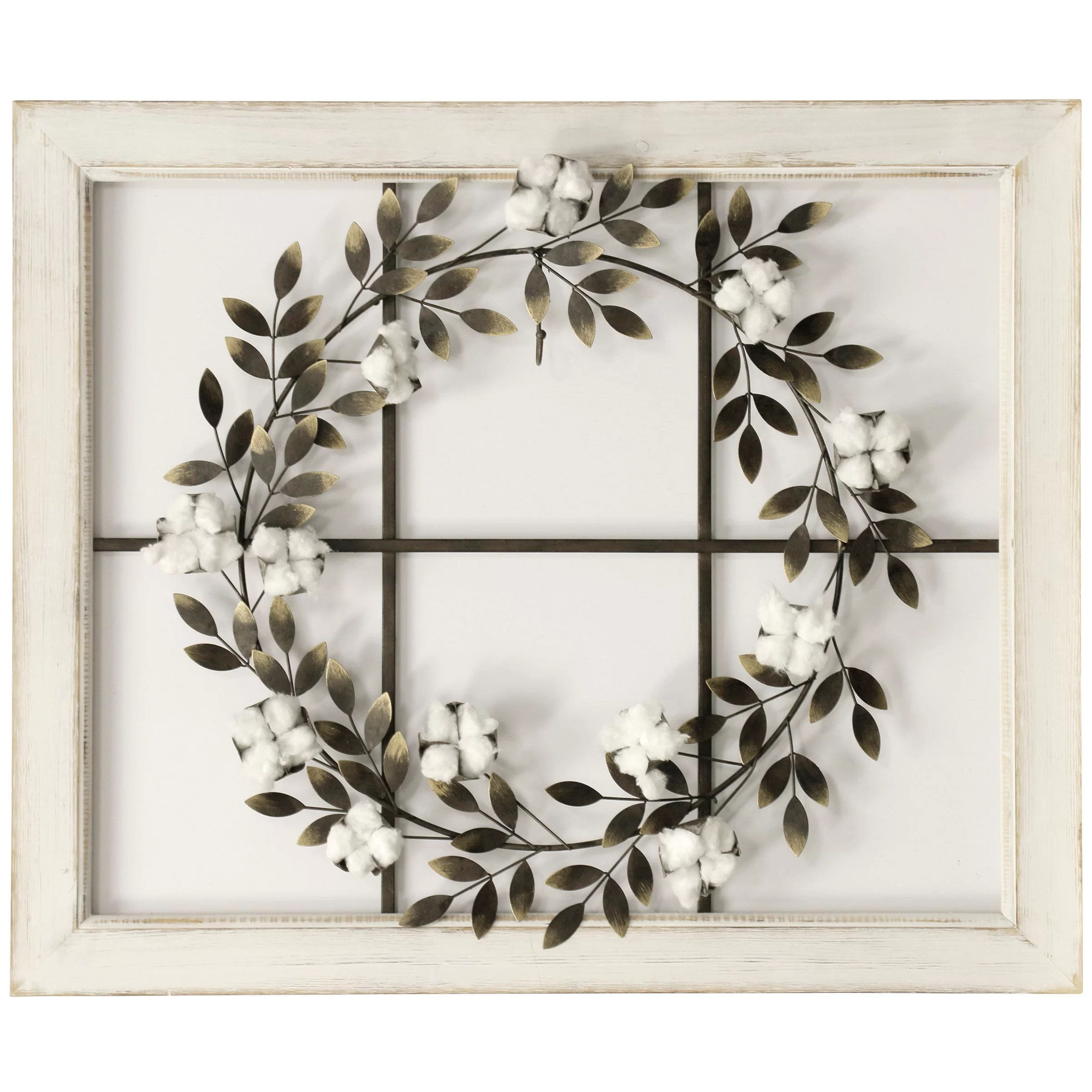Floral Wreath Wood Framed Wall Decor Reviews Joss Main