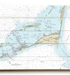 longshore tides nc cape hatteras hatteras inlet nc nautical chart sign graphic art print on wood wayfair [ 1500 x 1158 Pixel ]