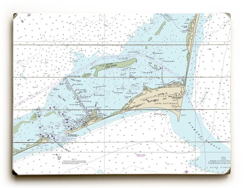 small resolution of longshore tides nc cape hatteras hatteras inlet nc nautical chart sign graphic art print on wood wayfair